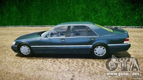 Mercedes Benz SL600 W140 1998 higher Performance para GTA 4 left