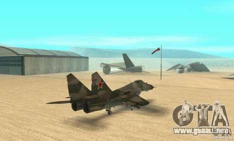 MIG-29 para GTA San Andreas left