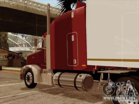 Peterbilt 377 para GTA San Andreas vista hacia atrás