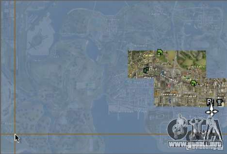 El nuevo mapa y radar para GTA San Andreas segunda pantalla