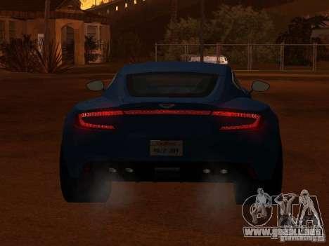 Aston Martin One77 para GTA San Andreas vista hacia atrás
