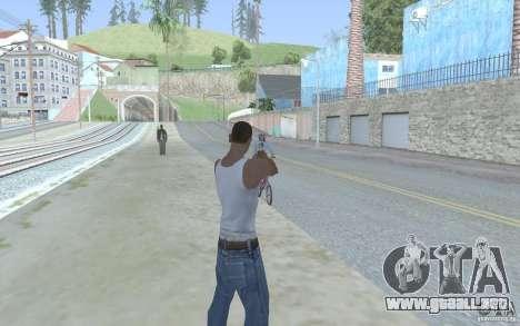 Vista azul para GTA San Andreas sucesivamente de pantalla