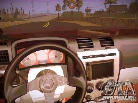 Hummer H3R para visión interna GTA San Andreas