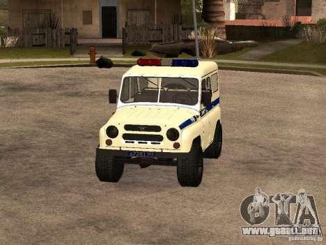 Policía UAZ para GTA San Andreas left