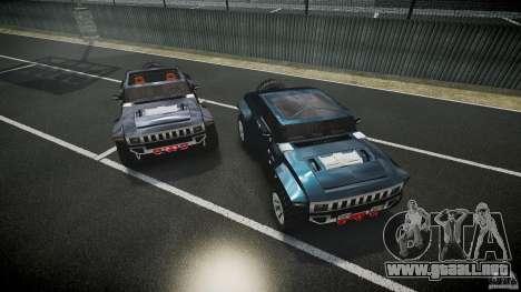 Hummer HX para GTA 4 vista desde abajo