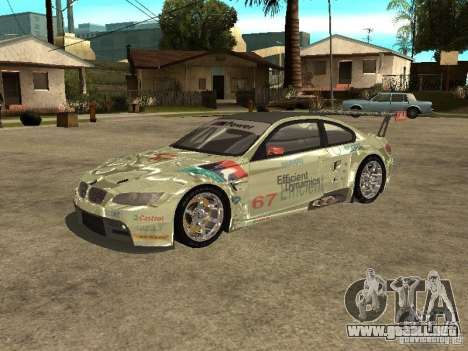 BMW M3 GT2 para GTA San Andreas left