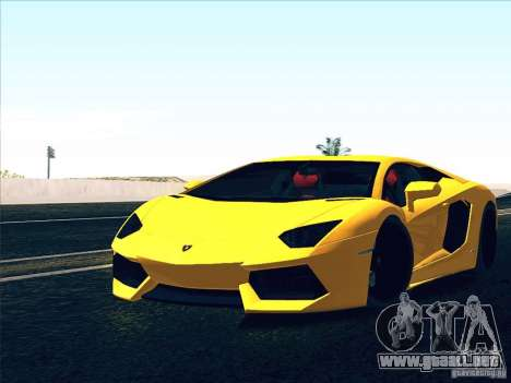 Lamborghini Aventador LP700-4 2011 V1.0 para GTA San Andreas interior