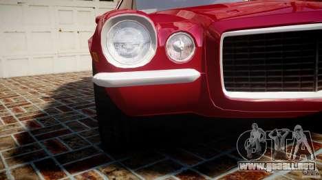 Chevrolet Camaro Z28 para GTA 4 vista superior