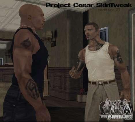 Caracteres Reteksturizaciâ para GTA San Andreas sucesivamente de pantalla