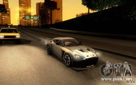 Aston Martin Zagato V12 V1.0 para GTA San Andreas left