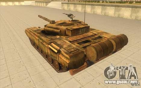 Tanque t-72 para GTA San Andreas vista posterior izquierda