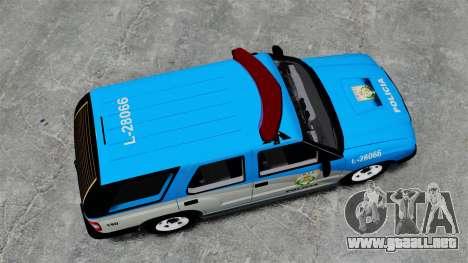 Chevrolet Blazer 2010 PMERJ ELS para GTA 4 visión correcta