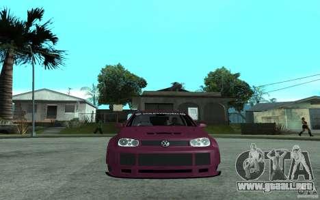 Volkswagen Golf GTI 4 Tuning para la visión correcta GTA San Andreas