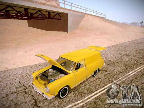 Van GAS 22B para vista lateral GTA San Andreas