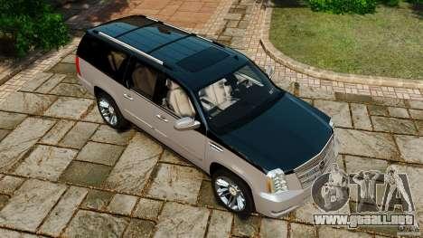 Cadillac Escalade ESV 2012 para GTA 4 interior