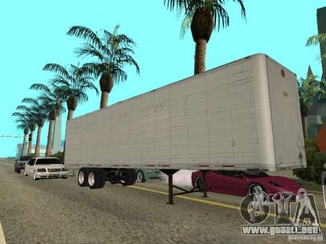American Trailers Pack para GTA San Andreas vista posterior izquierda