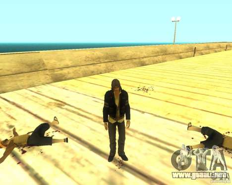 Alex Mercer ORIGINAL para GTA San Andreas tercera pantalla