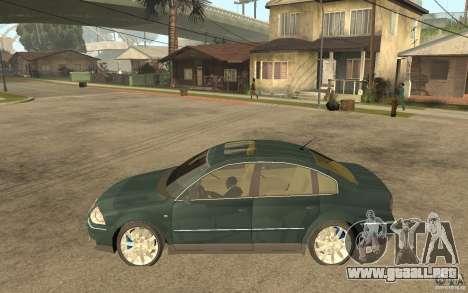 Volkswagen Passat B5+ W8 4Motion para GTA San Andreas left
