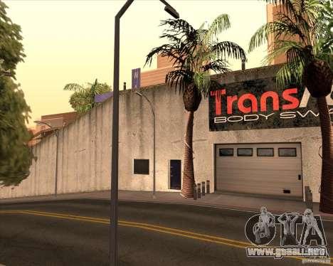 Un concesionario Wang Cars para GTA San Andreas sucesivamente de pantalla