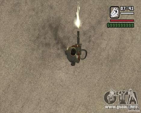 Hand Held M134 Minigun para GTA San Andreas tercera pantalla