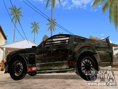 Ford Mustang Death Race para GTA San Andreas left