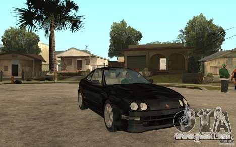 Acura Integra Type-R para GTA San Andreas vista hacia atrás