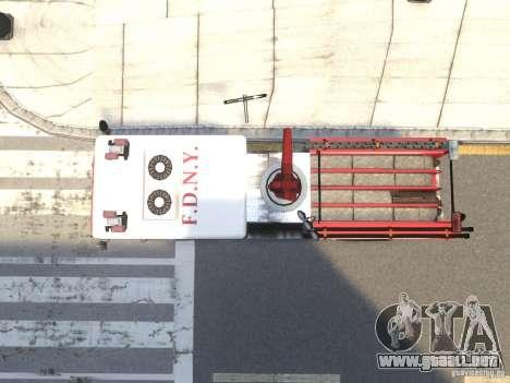 Fire Truck FDNY para GTA 4 vista interior