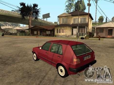 Volkswagen Golf MKII 5dr para GTA San Andreas left