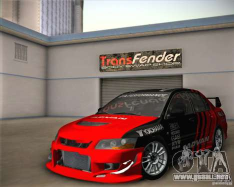 Mitsubishi Lancer Evolution IX Tunable para GTA San Andreas