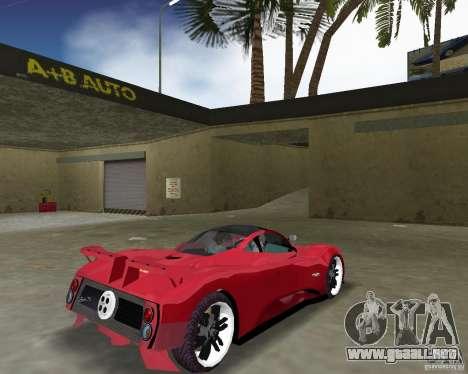 Pagani Zonda S para GTA Vice City visión correcta