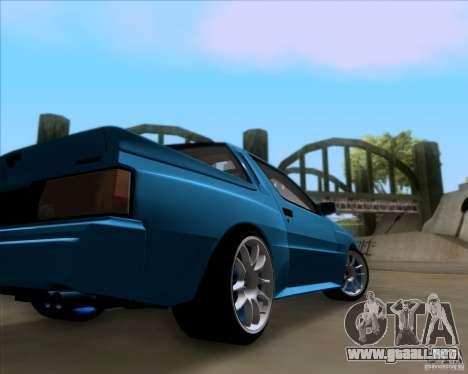 Mitsubishi Starion para visión interna GTA San Andreas