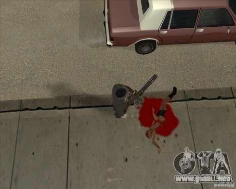 Real Ragdoll Mod Update 02.11.11 para GTA San Andreas sucesivamente de pantalla