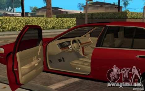 Mercury Grand Marquis 2006 para GTA San Andreas vista posterior izquierda