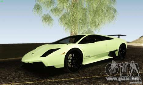 Lamborghini Murcielago LP 670-4 SV para la visión correcta GTA San Andreas