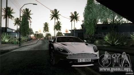 Aston Martin Vanquish V12 para vista lateral GTA San Andreas