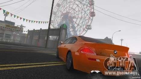 BMW M6 Hurricane RR para GTA 4 vista superior