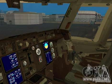 Boeing 767-300 British Airways para visión interna GTA San Andreas