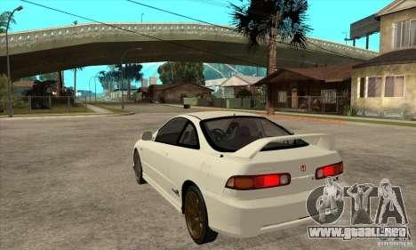 Honda Integra TypeR para GTA San Andreas vista posterior izquierda