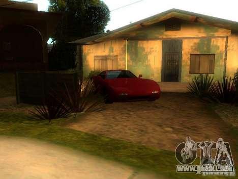 New Car in Grove Street para GTA San Andreas segunda pantalla
