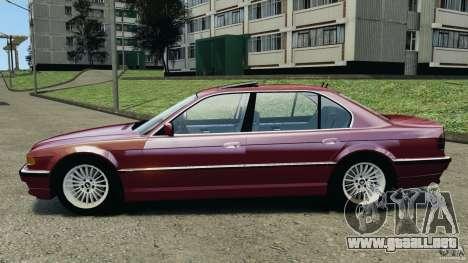 BMW 750iL E38 1998 para GTA 4 left
