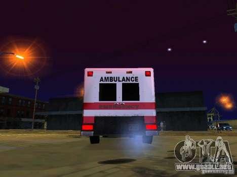 Ambulance 1987 San Andreas para GTA San Andreas vista hacia atrás