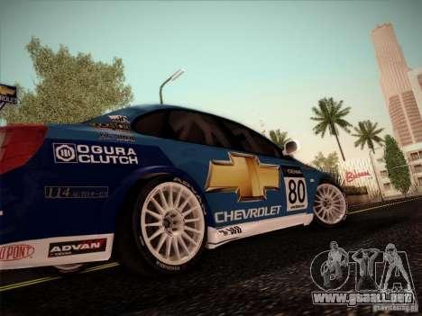 Chevrolet Lacetti WTCC v2 para GTA San Andreas vista posterior izquierda