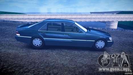 Mercedes Benz SL600 W140 1998 higher Performance para GTA 4 vista hacia atrás