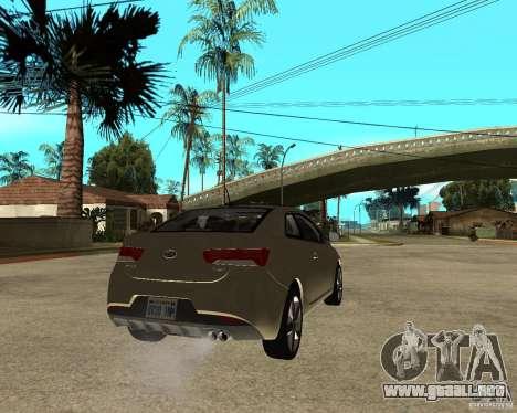KIA Forte Coup para GTA San Andreas vista posterior izquierda