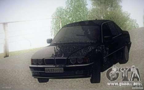 BMW 750i E38 2001 para GTA San Andreas vista hacia atrás