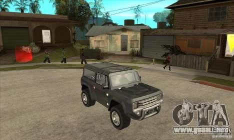 Ford Bronco Concept para GTA San Andreas vista hacia atrás