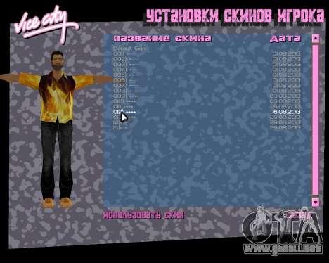 Camisa con llamas para GTA Vice City sucesivamente de pantalla