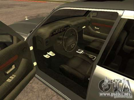 HD Sentinel para GTA San Andreas vista posterior izquierda