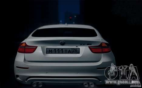 BMW X6M E71 para GTA San Andreas vista hacia atrás
