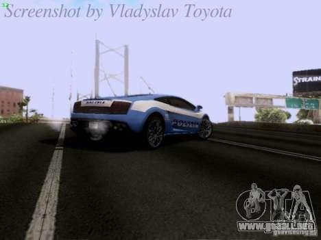 Lamborghini Gallardo LP560-4 Polizia para la vista superior GTA San Andreas